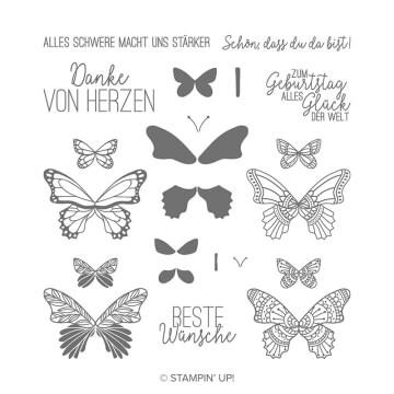149098 Stempelset Schmetterlingsglück